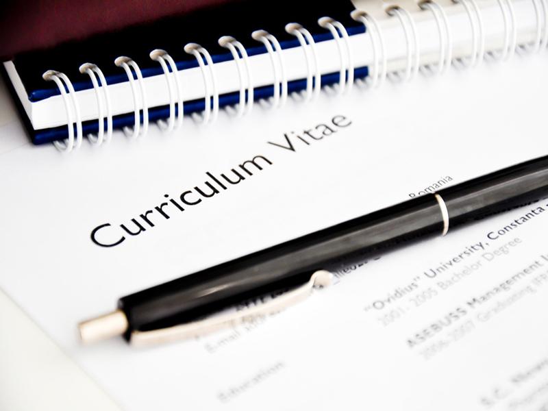 Photo d'un Curriculum Vitae